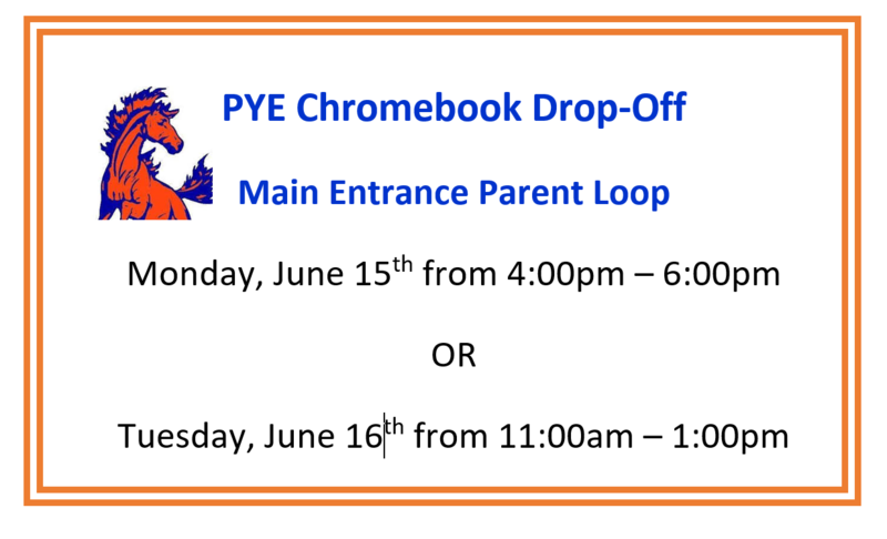 Chromebook Drop-Off Dates for PYE Students Featured Photo