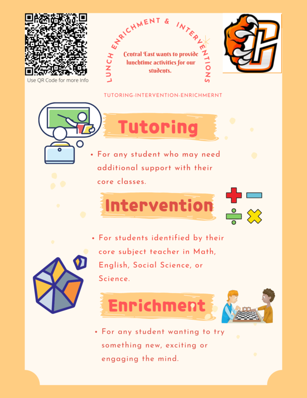 Lunch Enrichment and Intervention Flyer