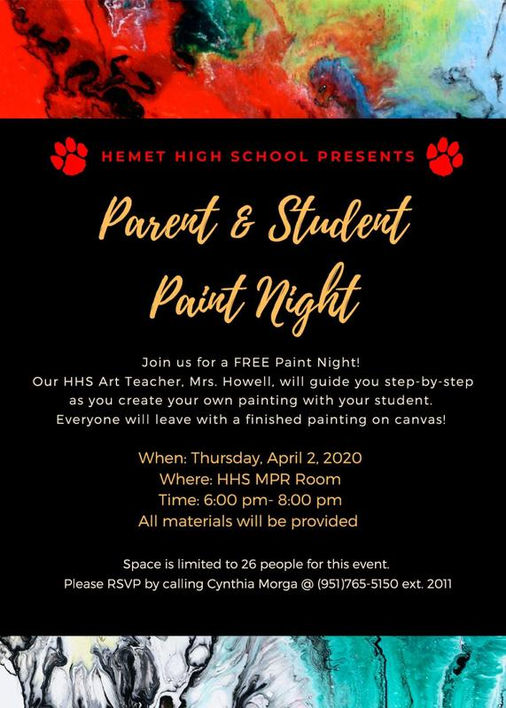 Parent & Student Paint Night