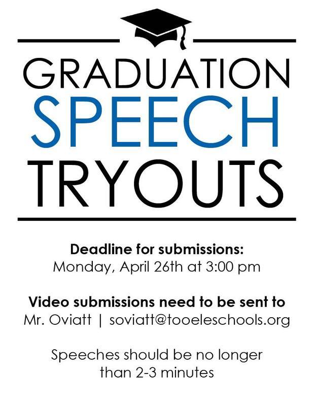 Graduation Speech Tryouts Thumbnail Image
