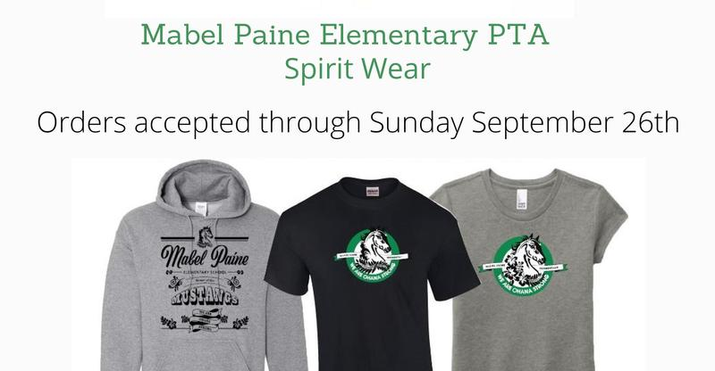 Mabel Paine Spirit Wear Now Available Until Sept. 26!