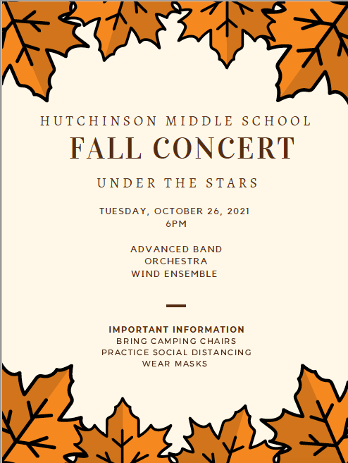 Hutchinson Fall Concert, October 26 @ 6pm Featured Photo