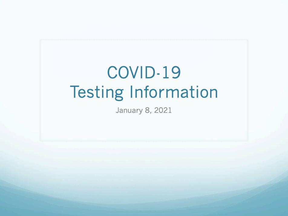 covid test info