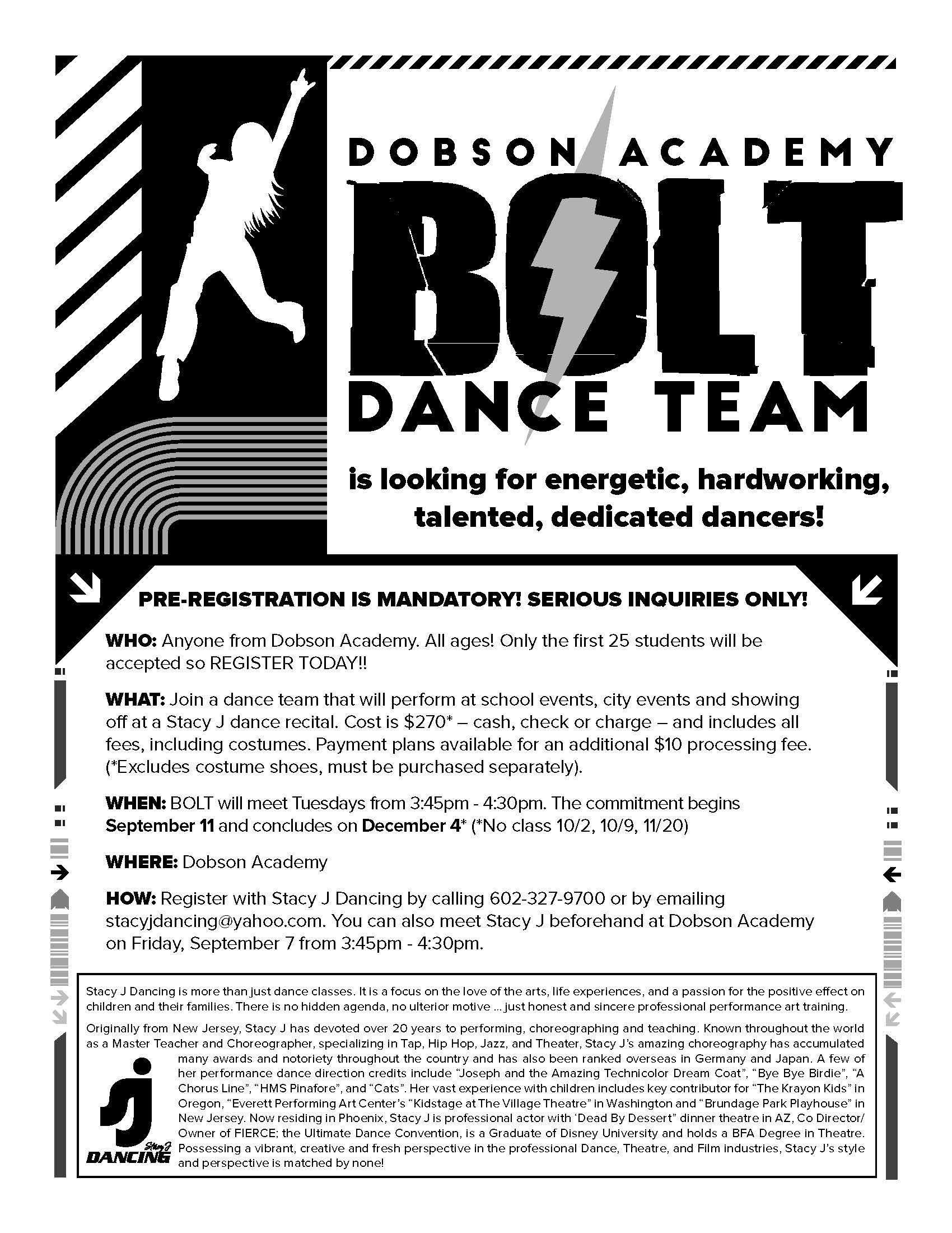 Dance Club flyer