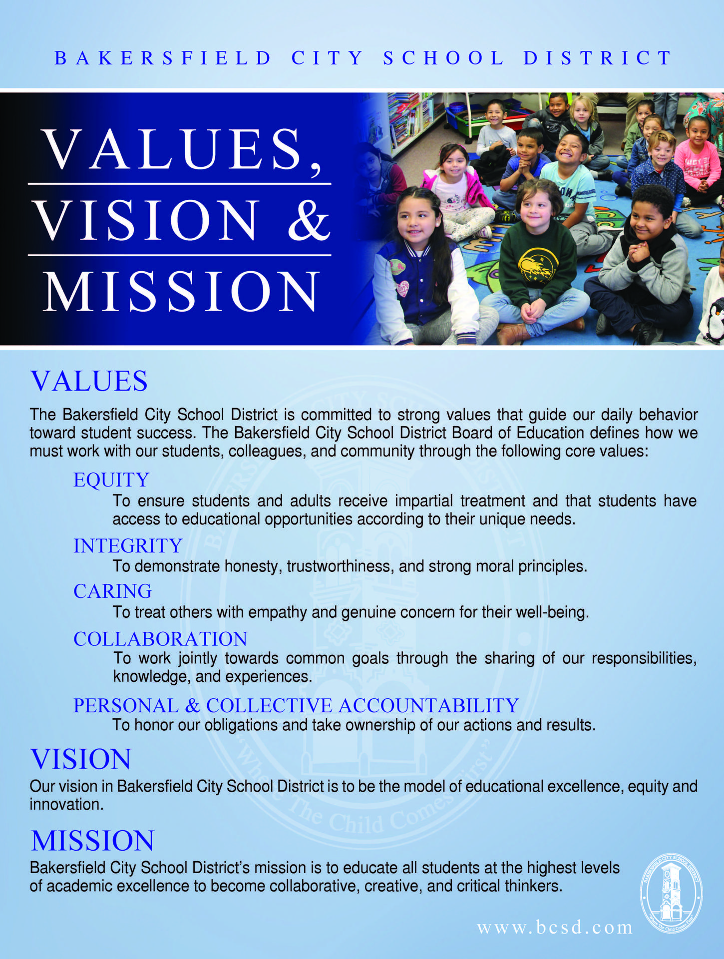 Values Vision and Mission