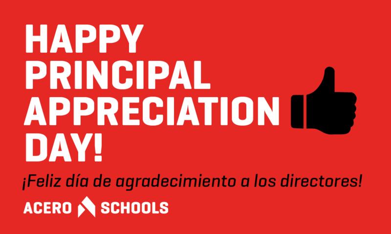 Happy Principal Appreciation Day -  ¡Feliz día de agradecimiento a los directores!