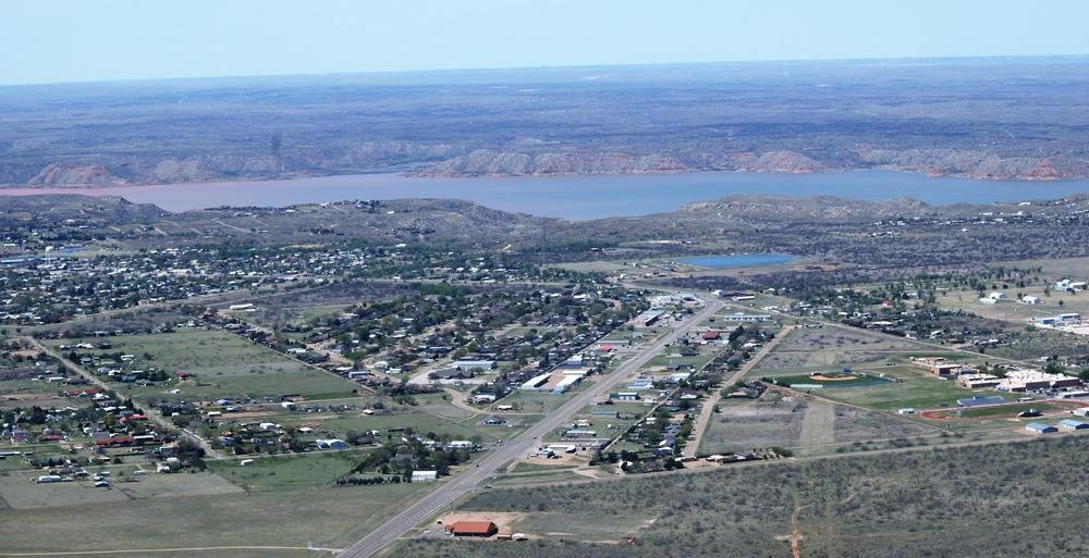 City of Fritch overlooking Lake Meredith