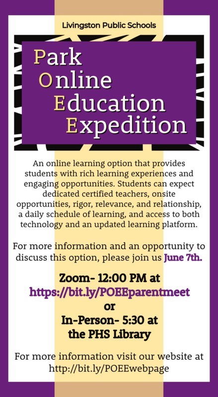 Park Online Education Expedition Flyer