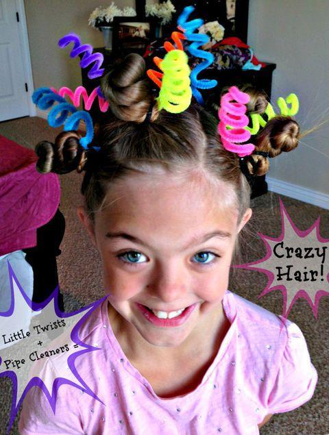 Crazy hair with pipecleaners