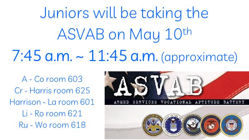 ASVAB schedule