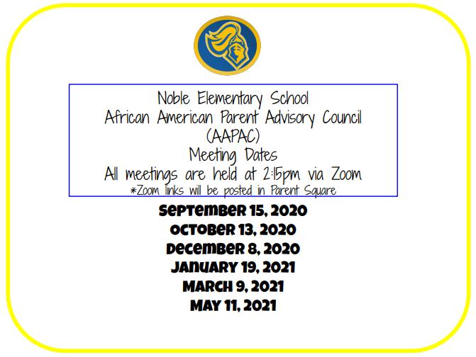 AAPAC Meeting Dates
