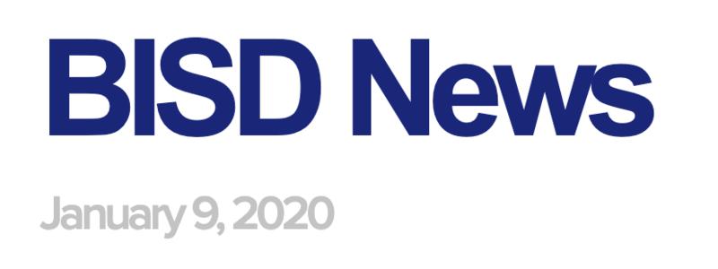 BISD News: January 9, 2020