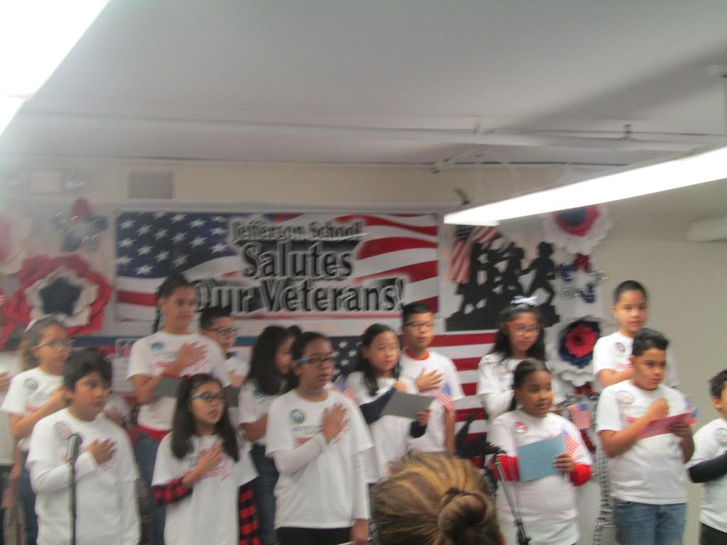 standing for the pledge of allegiance