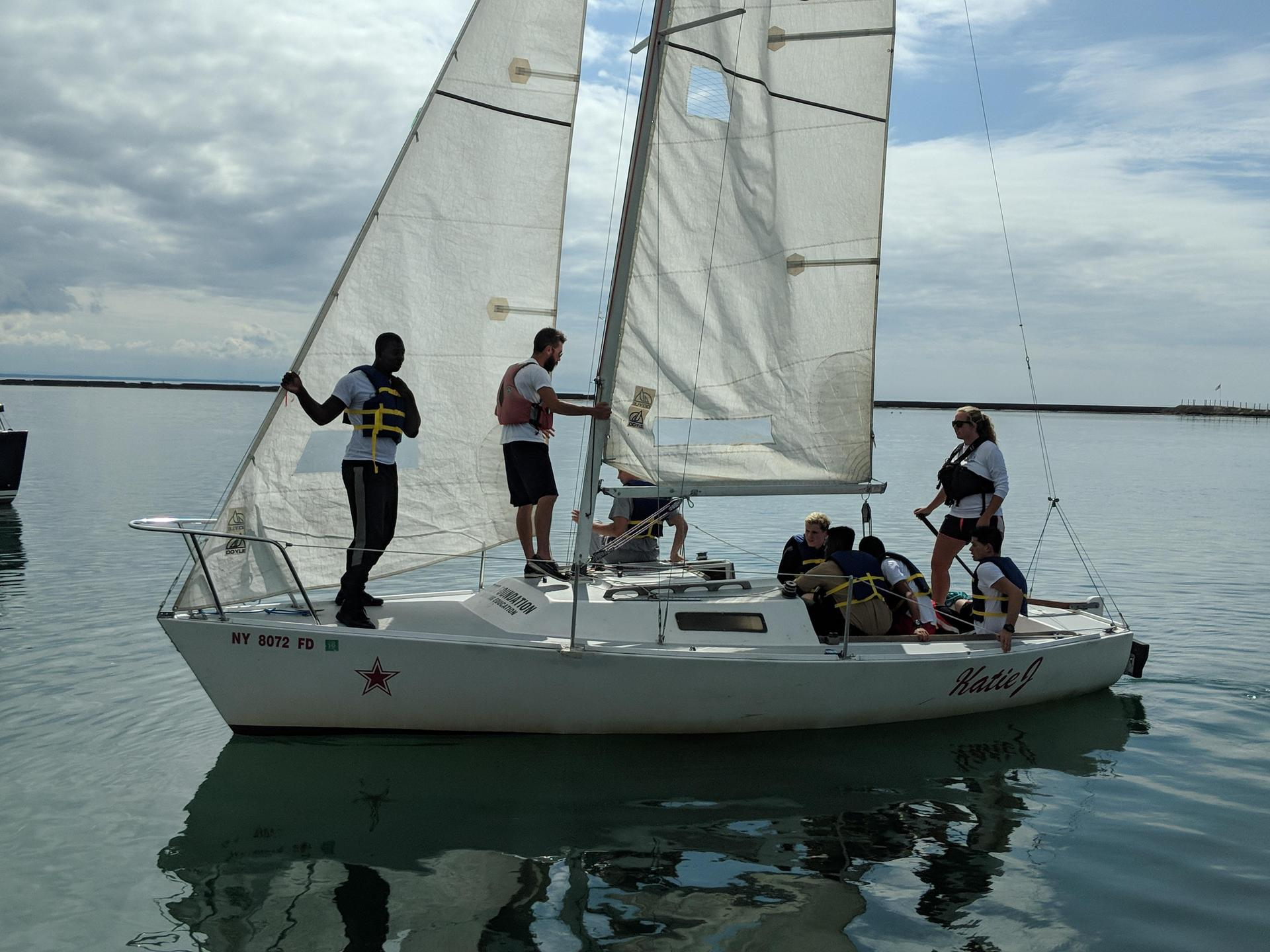 Here are a few photos of the first time the Maritime Careers cadets ever went sailing.