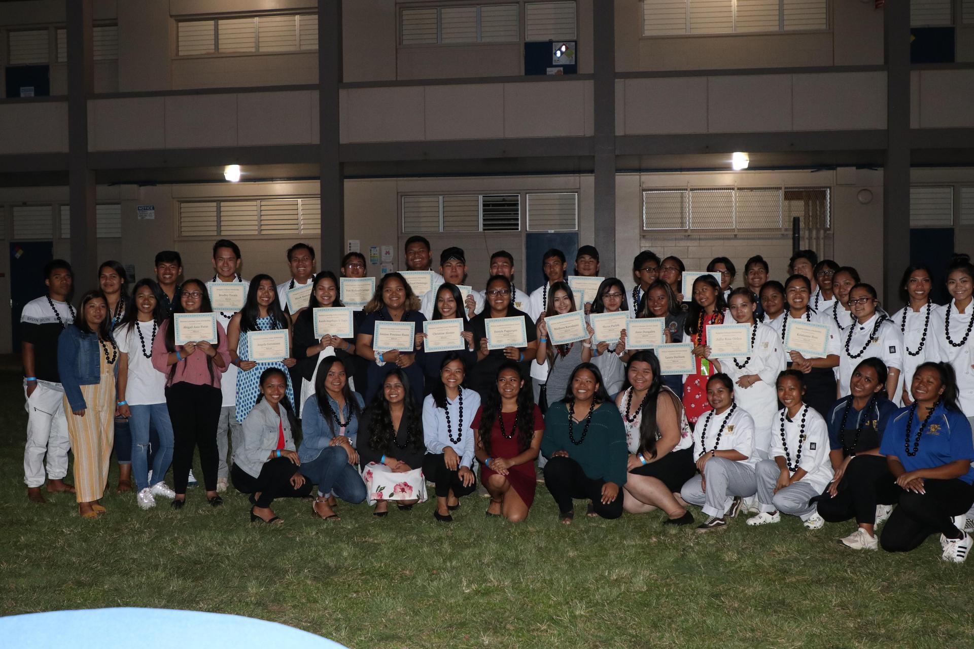APPS Scholarship Recipients at Family Night