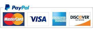 PayPay, MasterCard, Visa, American Express, and Discover Logos