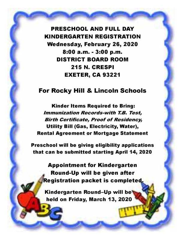 kindergarten registration flyer- english