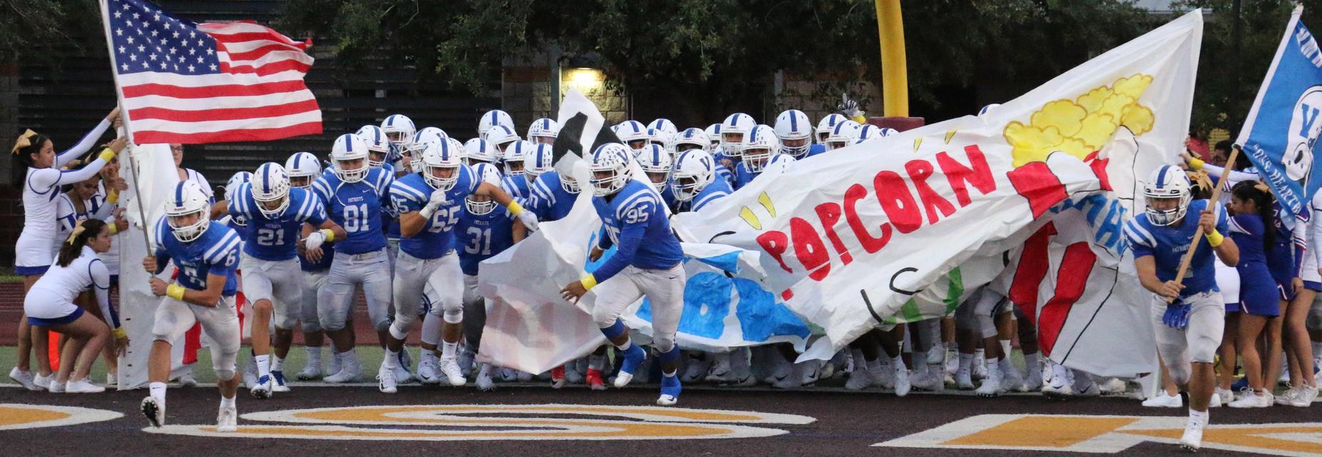 Veterans Memorial High School Patriot Football and Cheer team.