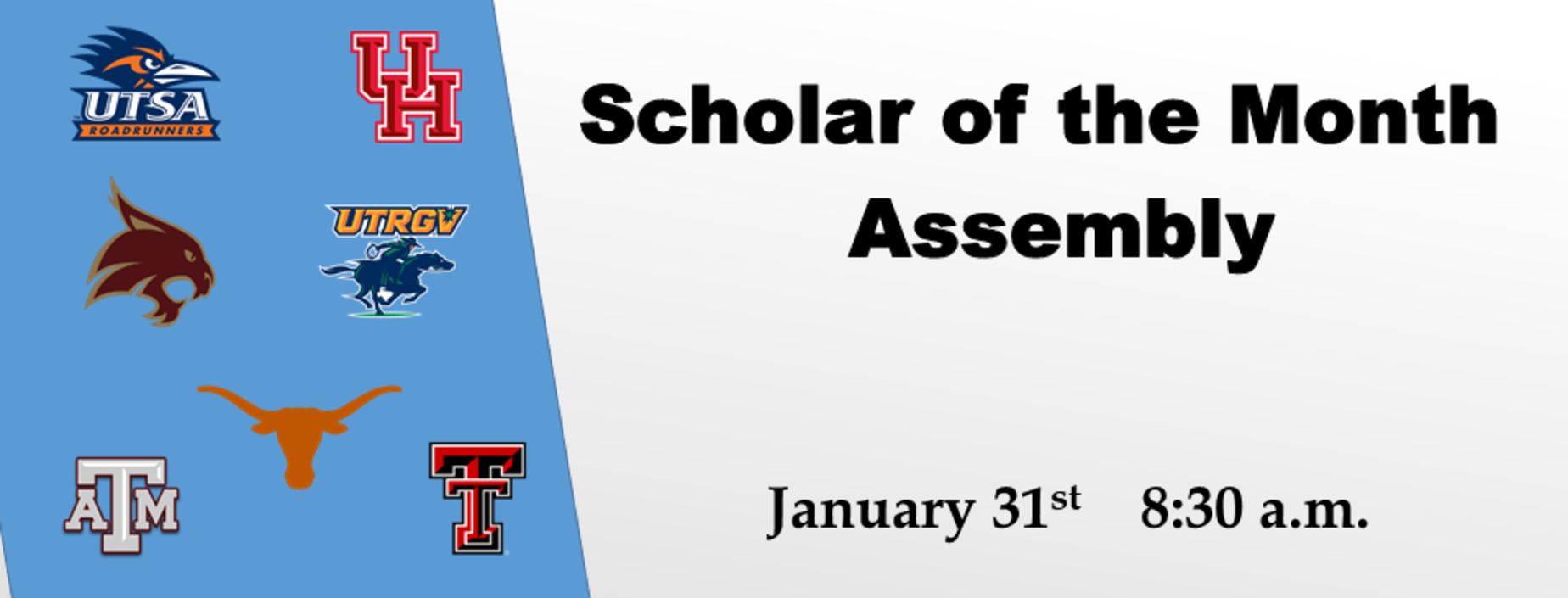 picture of scholar of the month information
