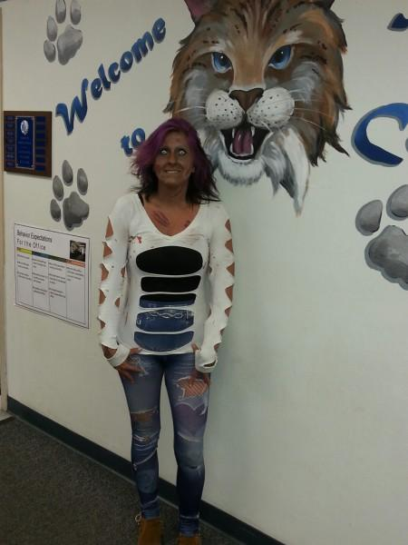 Mrs. Shannon in Scary costume