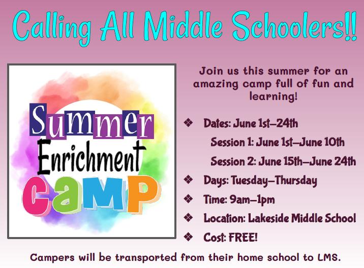 Summer Enrichment Camp Featured Photo