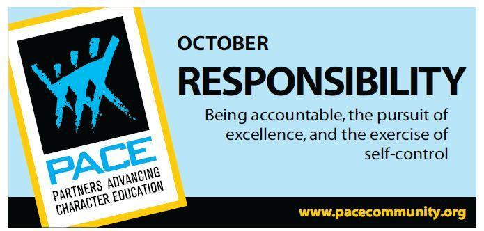 October PACE Character Trait - Responsiblity