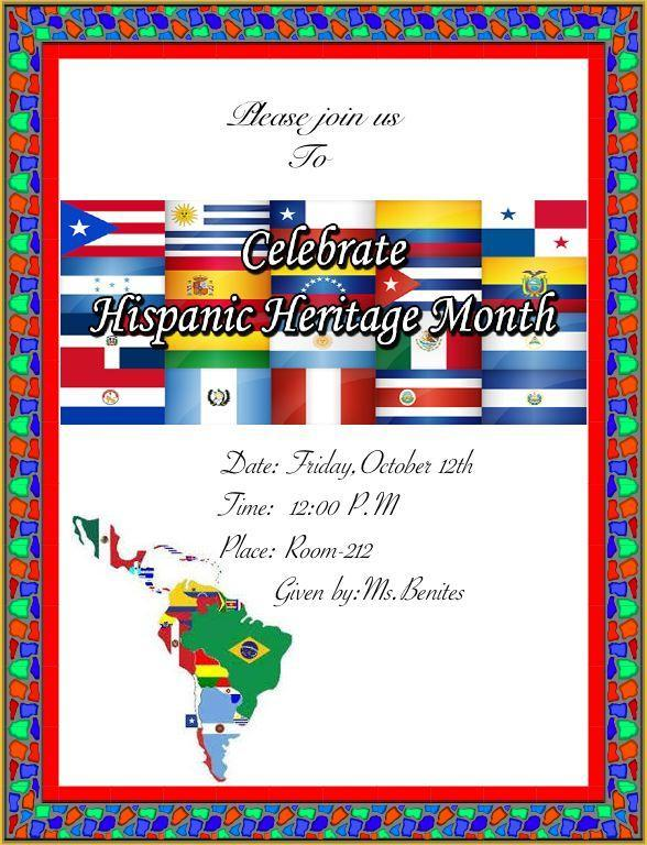 hispanic heritage invitation