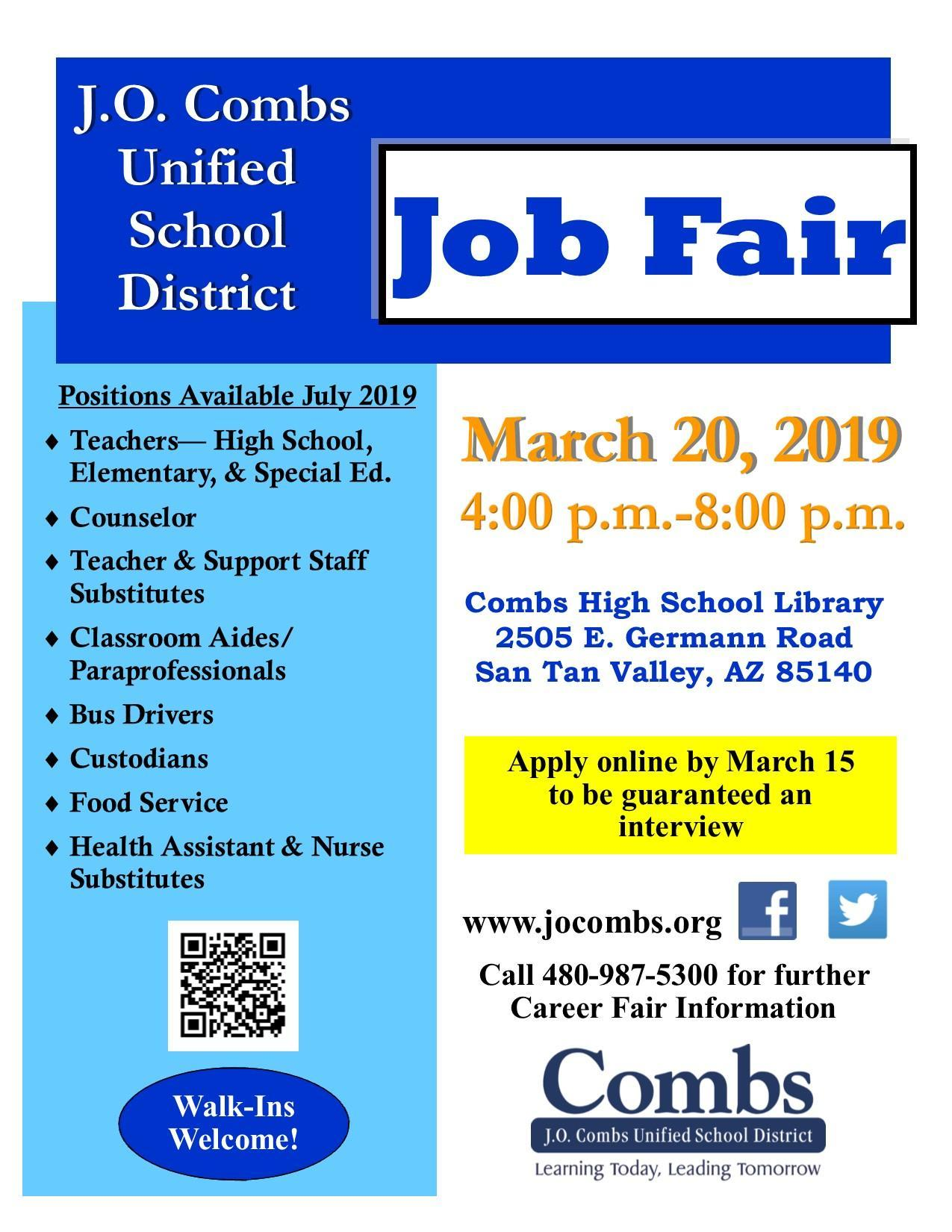 J.O. Combs Job Fair Fyler
