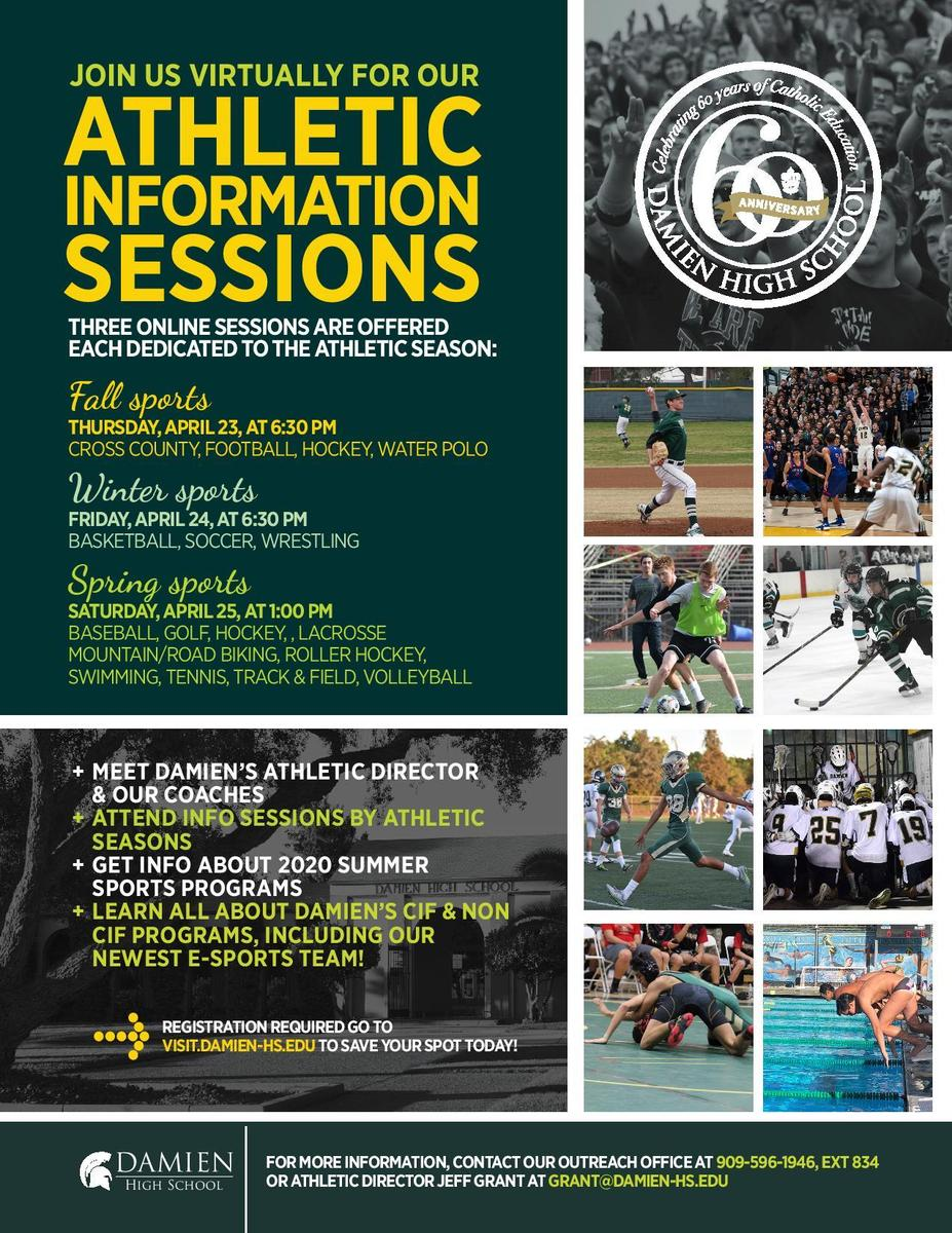 Athletic Information Sessions - April 23-25, 2020
