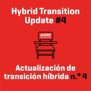 Click here to read the latest on Acero's transition into hybrid learning beginning on April 19: #WeAreAcero  Haga clic aquí para leer lo último sobre la transición de Acero al aprendizaje híbrido a partir del 19 de abril: #SomosAcero