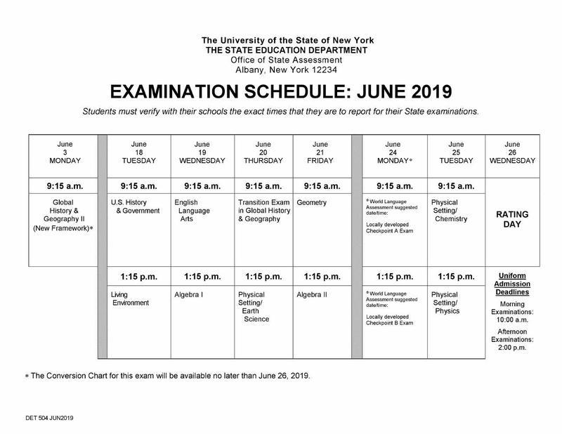 Maspeth High School Announces June Regents Exam Schedule Featured Photo