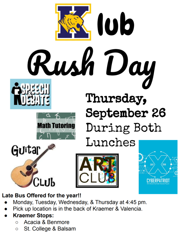 Club Rush Day