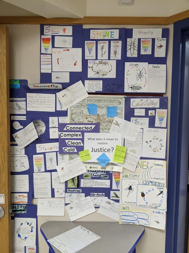 Restore Justice bulletin board