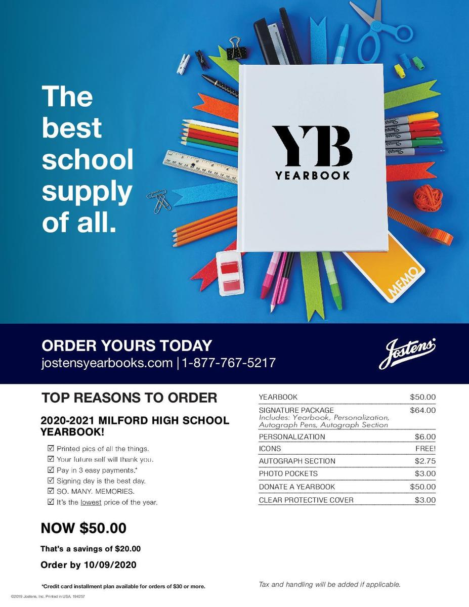 Yearbook Flyer - current price $50.00