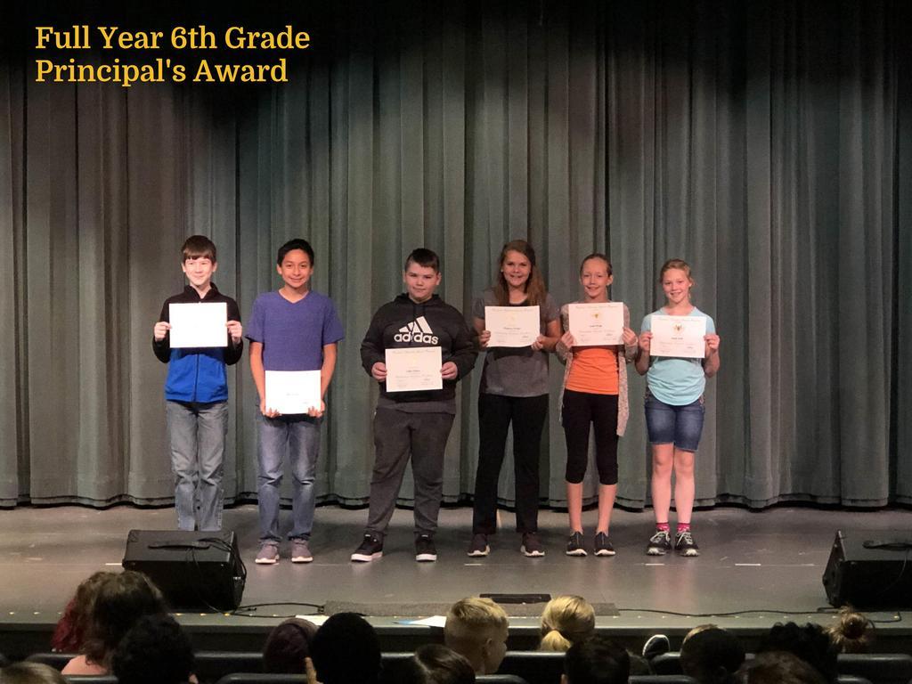 FY 6th Grade Principal's List