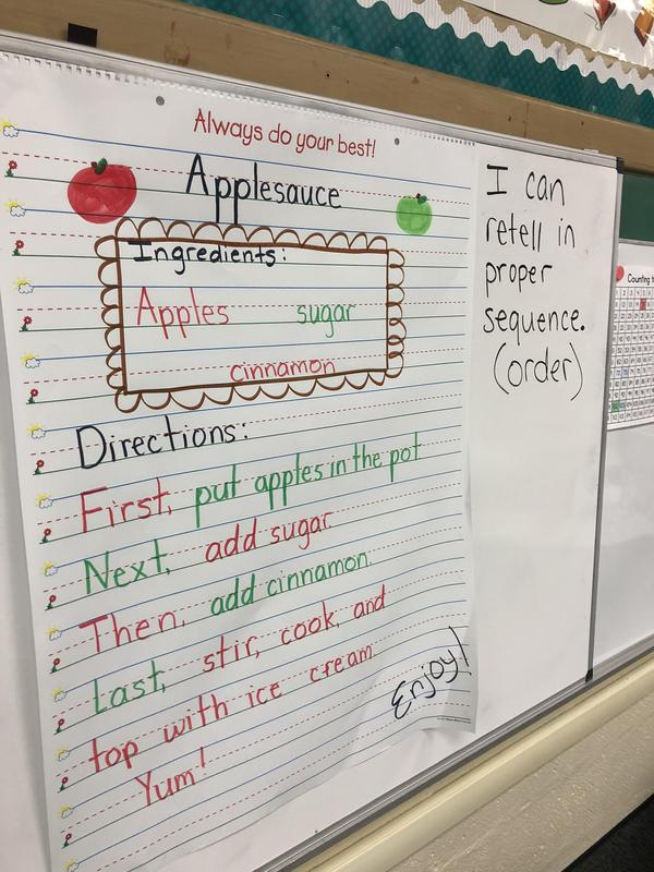 Apple Fun in First Grade Featured Photo
