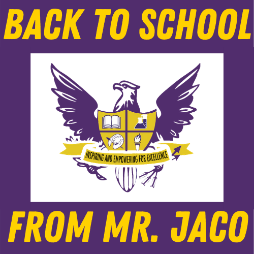 Back to School letter from Mr. Jaco Featured Photo