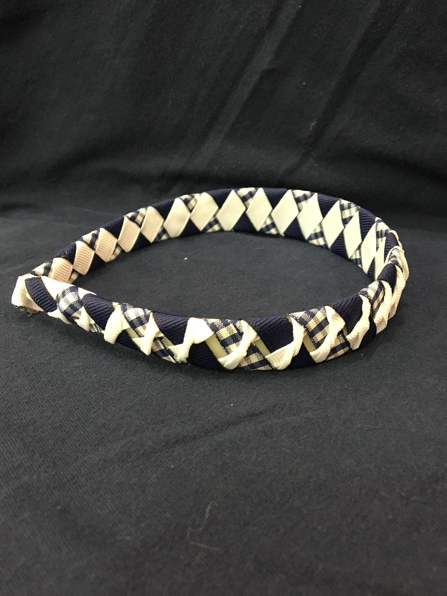 Navy & White Headband