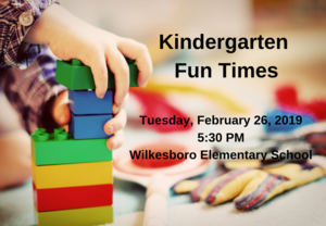 Kindergarten Fun Times Announcements