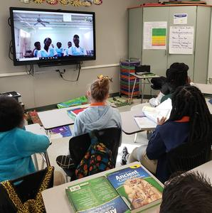 Skype conference with Jamaican school