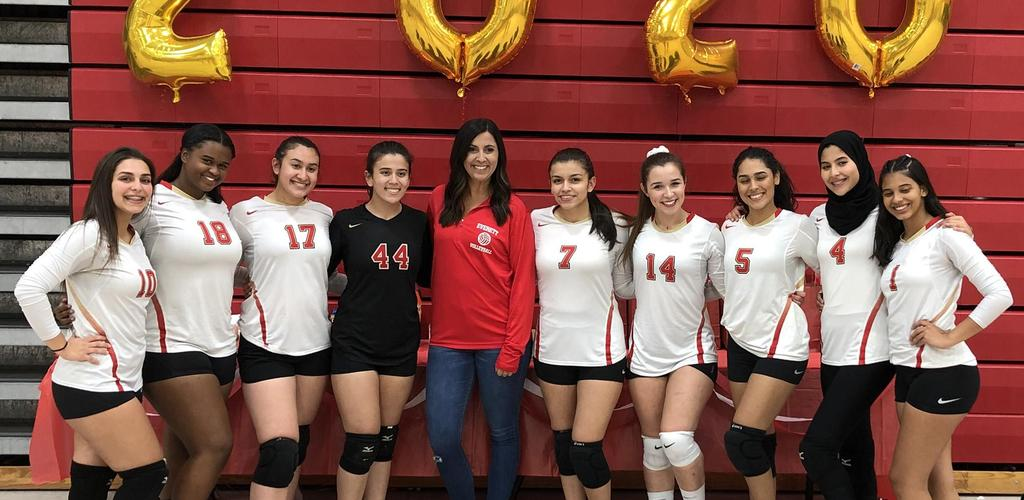 The senior members of the 2019 EHS volleyball team
