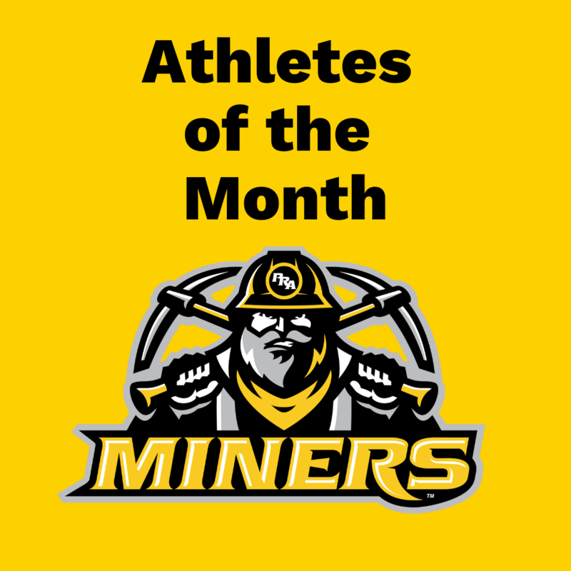 PRA Athletes of the Month Logo