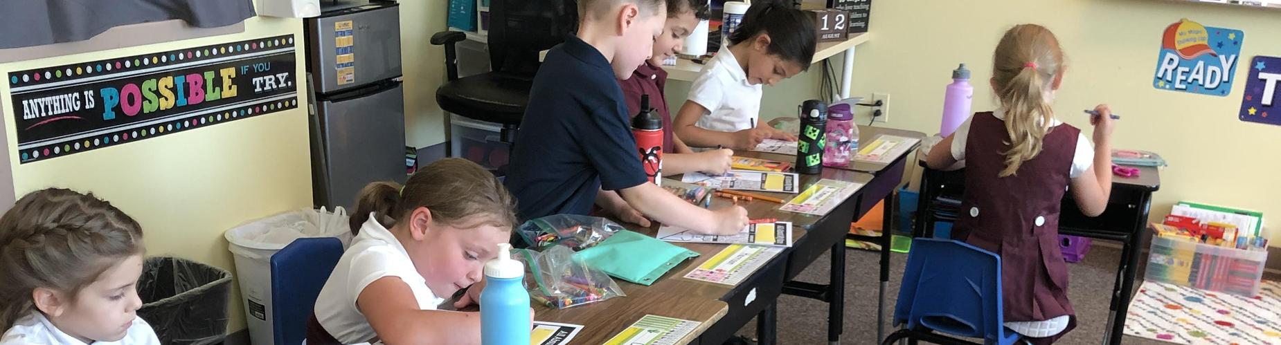 Students engaged in activity image