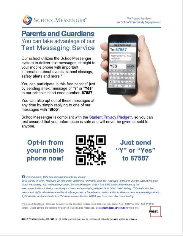 Parents & Guardians Text Messaging Service