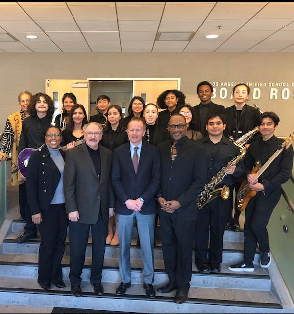 Jazz Band Plays For LAUSD School Board Featured Photo