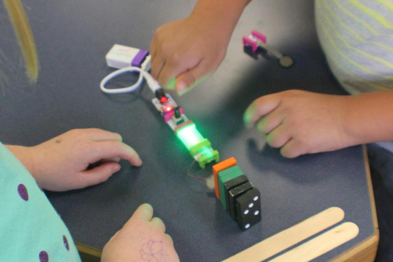 STEM experiment making lights