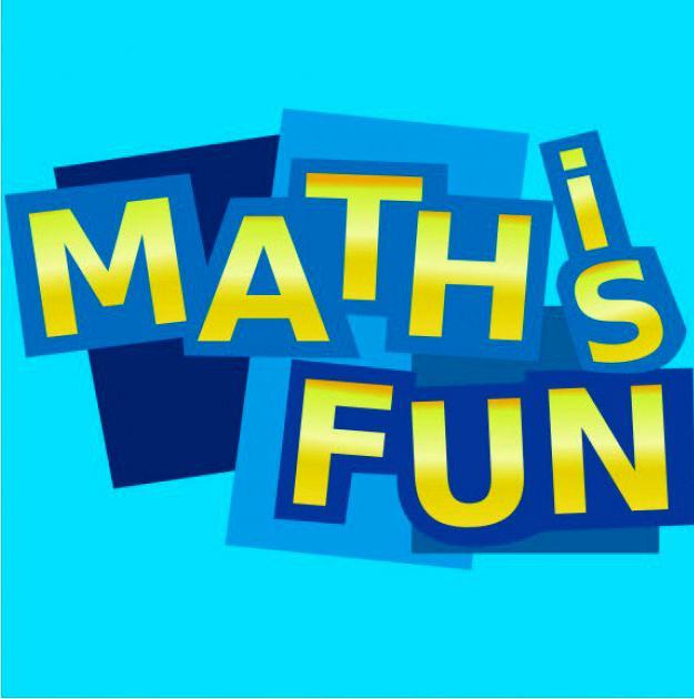"""""""math is fun"""" text inside blue boxes"""