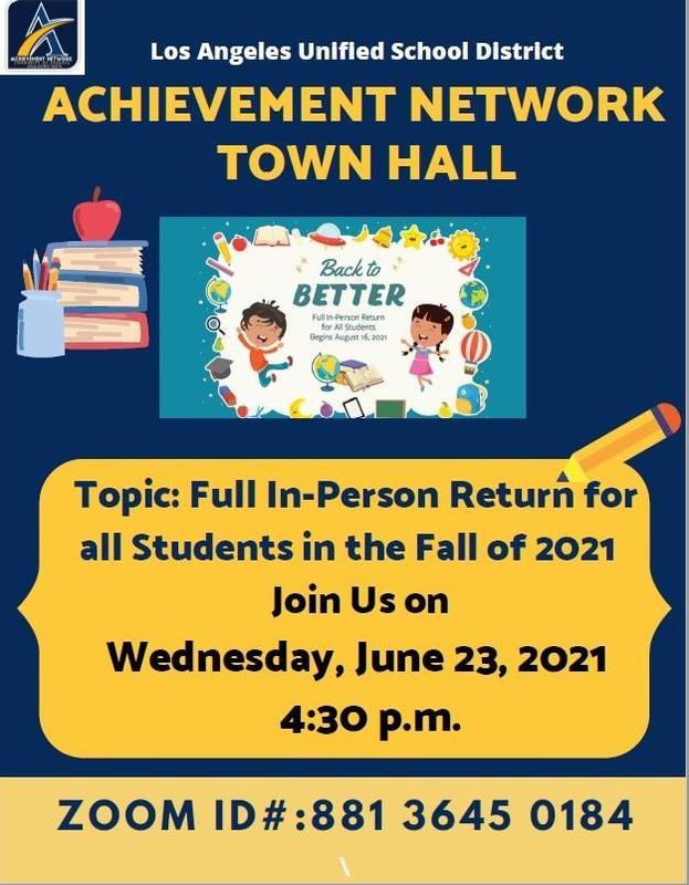 Achievement Network Town Hall Meeting/Junta Virtual del Achievement Network Thumbnail Image