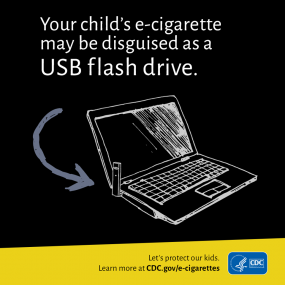 your child's e-cigarette may be disguised as a USB flash drive