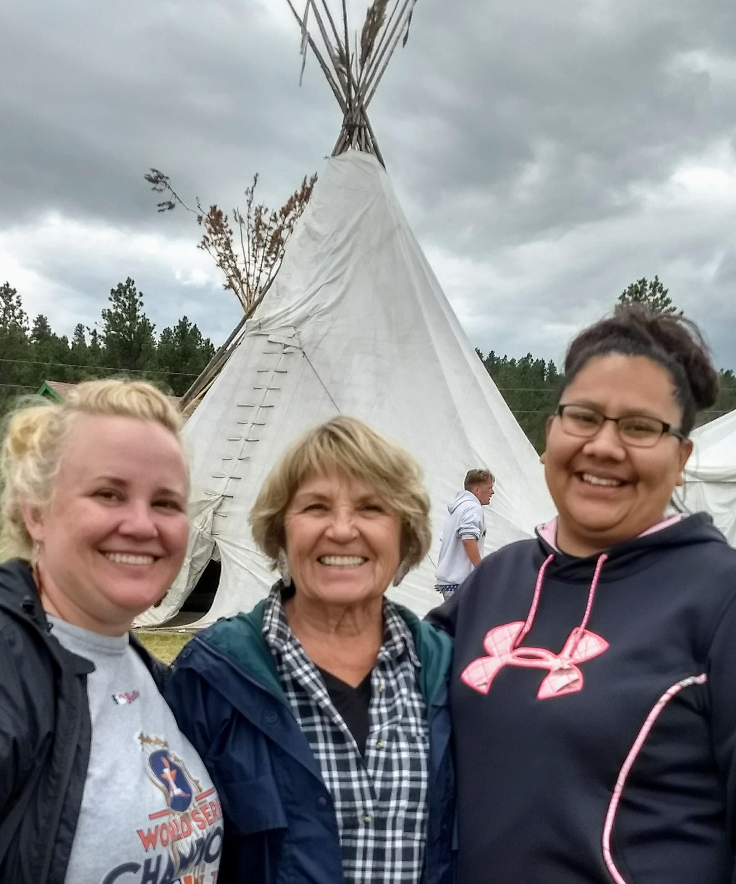 Picture of me in Montana with my mom and new friend.